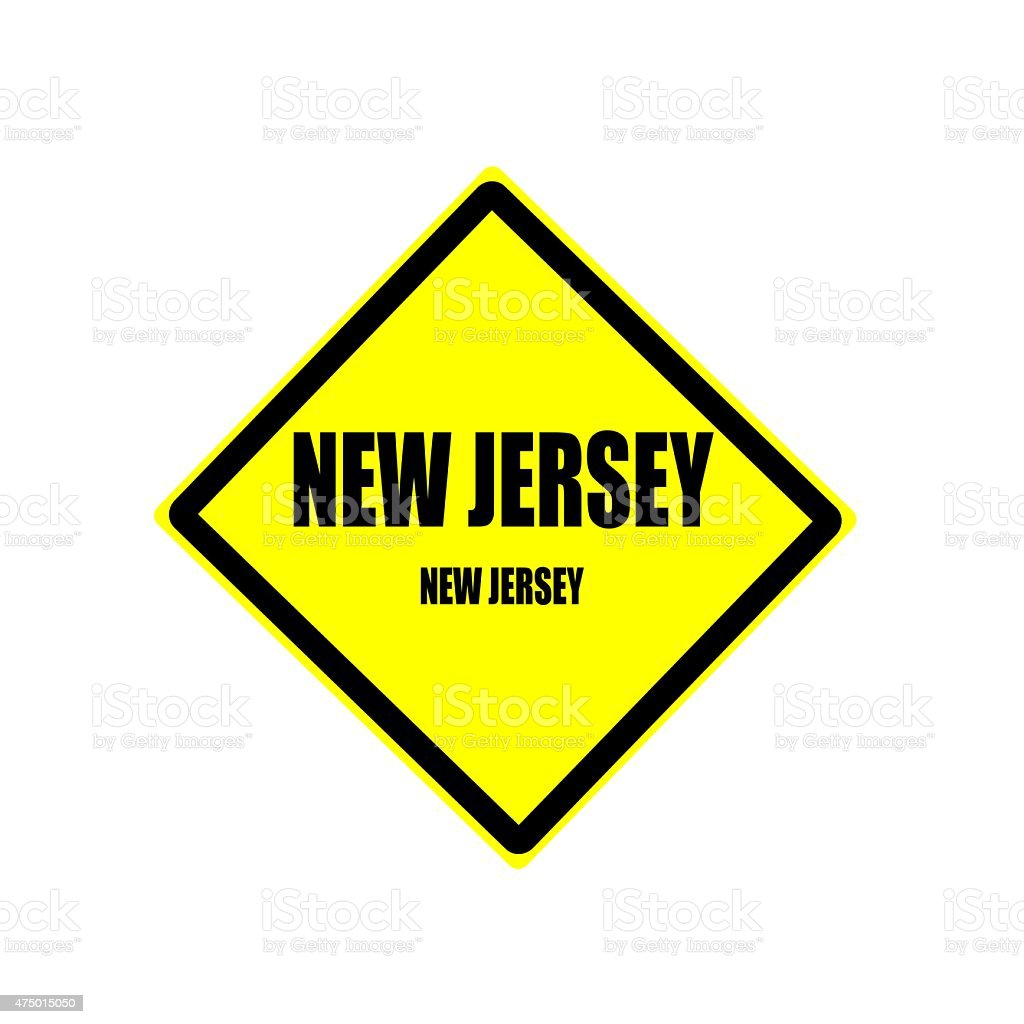 New jersey black stamp text on yellow background vector art illustration