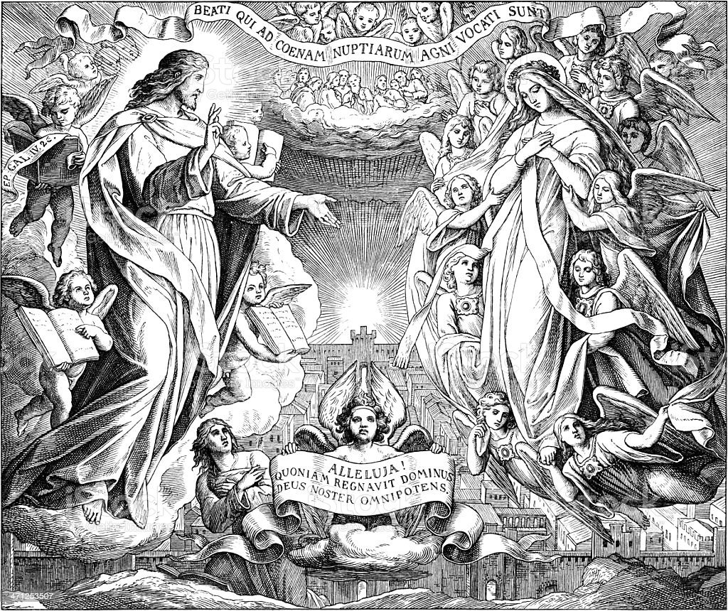 New Jerusalem, Alpha and Omega royalty-free stock vector art