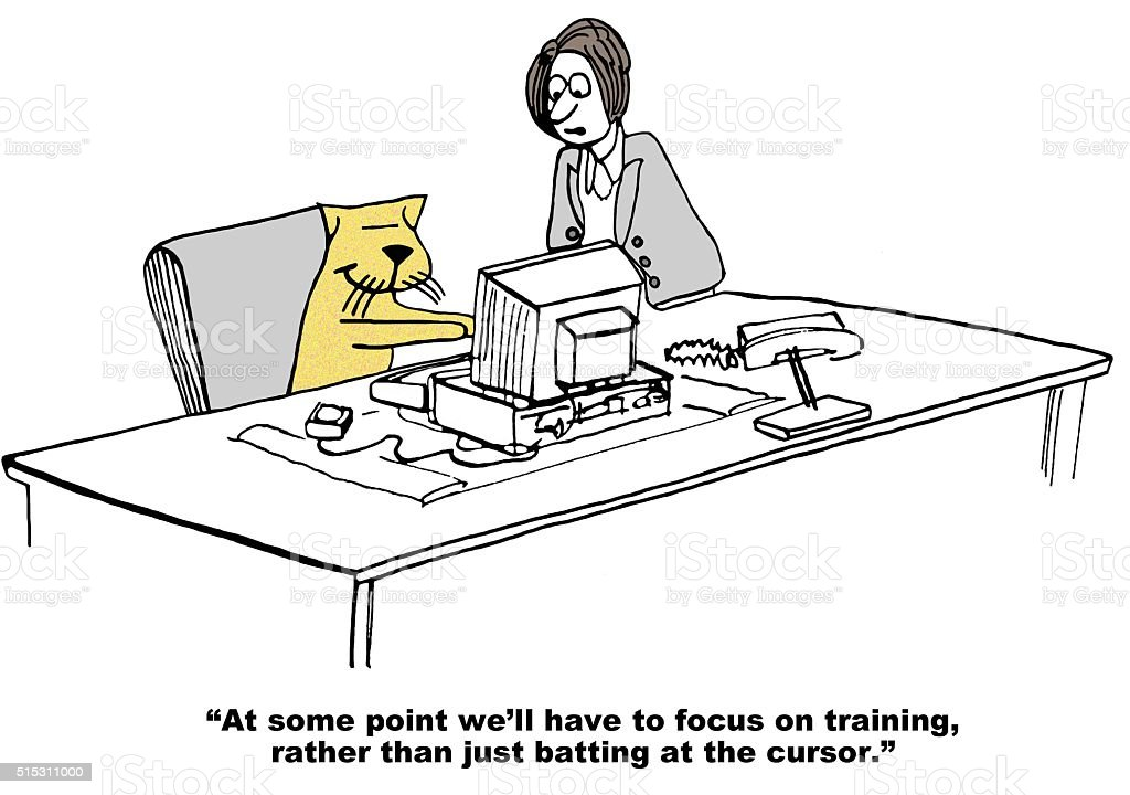 New Training vector art illustration