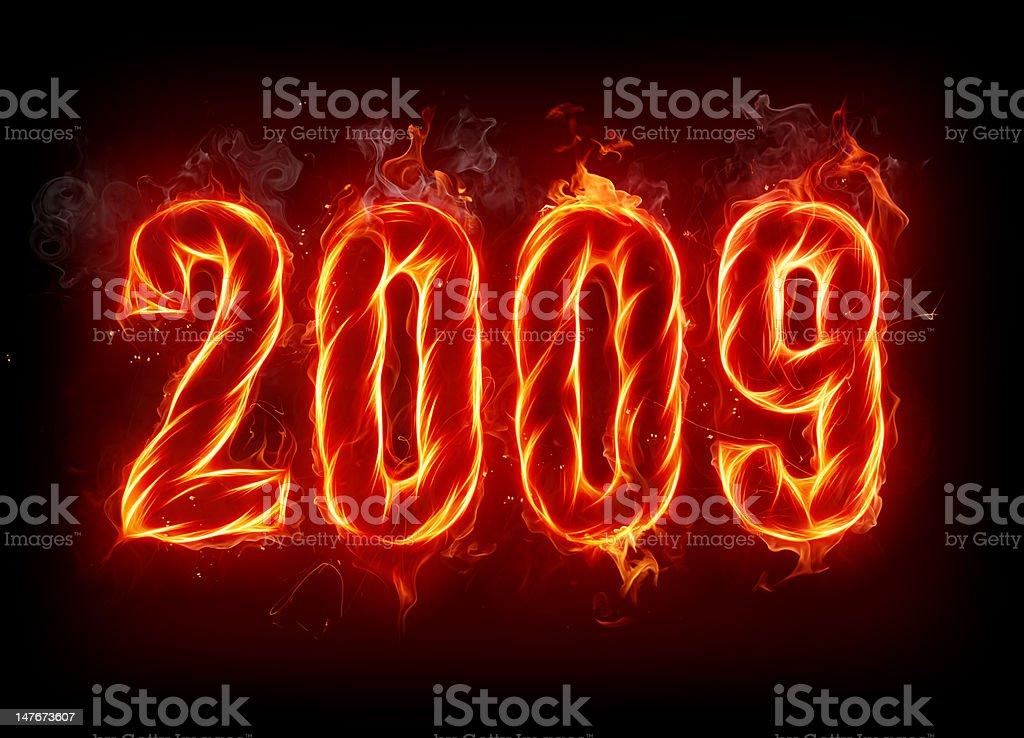 New Year 2009 vector art illustration