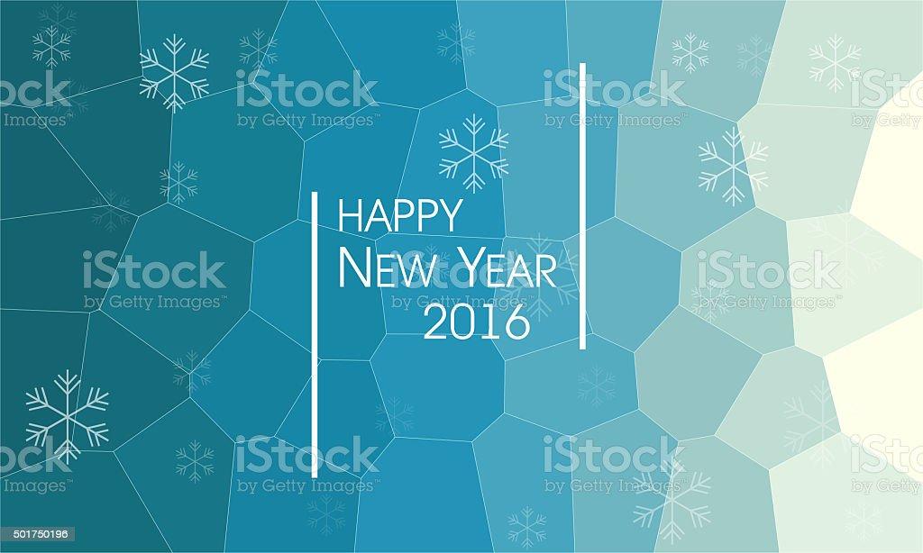 New year 2016 vector art illustration