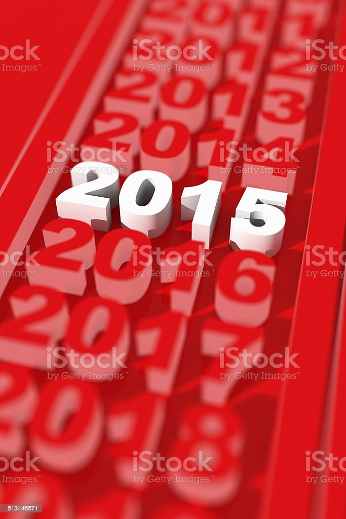 2015 new year's day vector art illustration