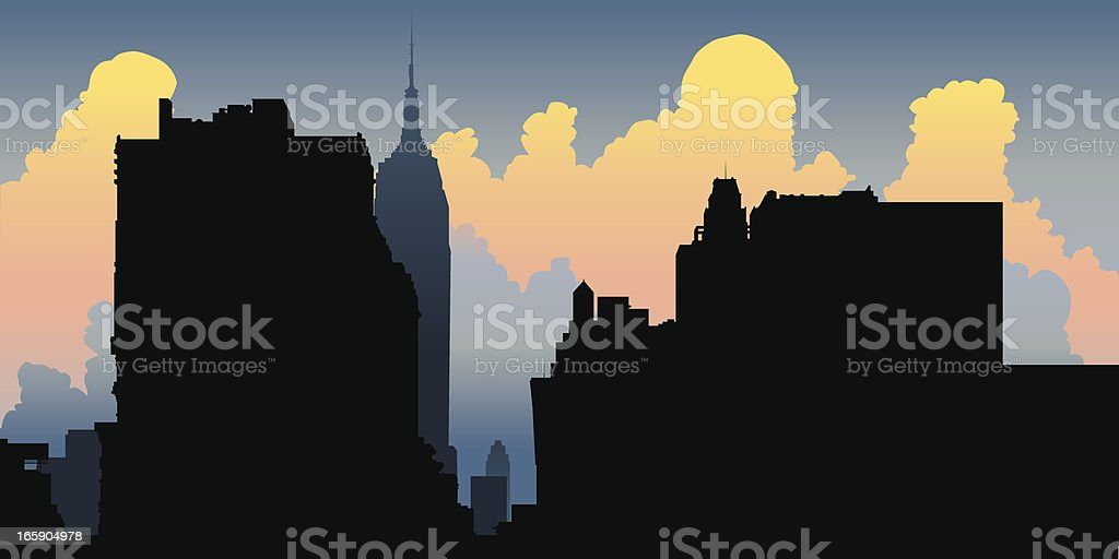 New York City Silhouette royalty-free stock vector art