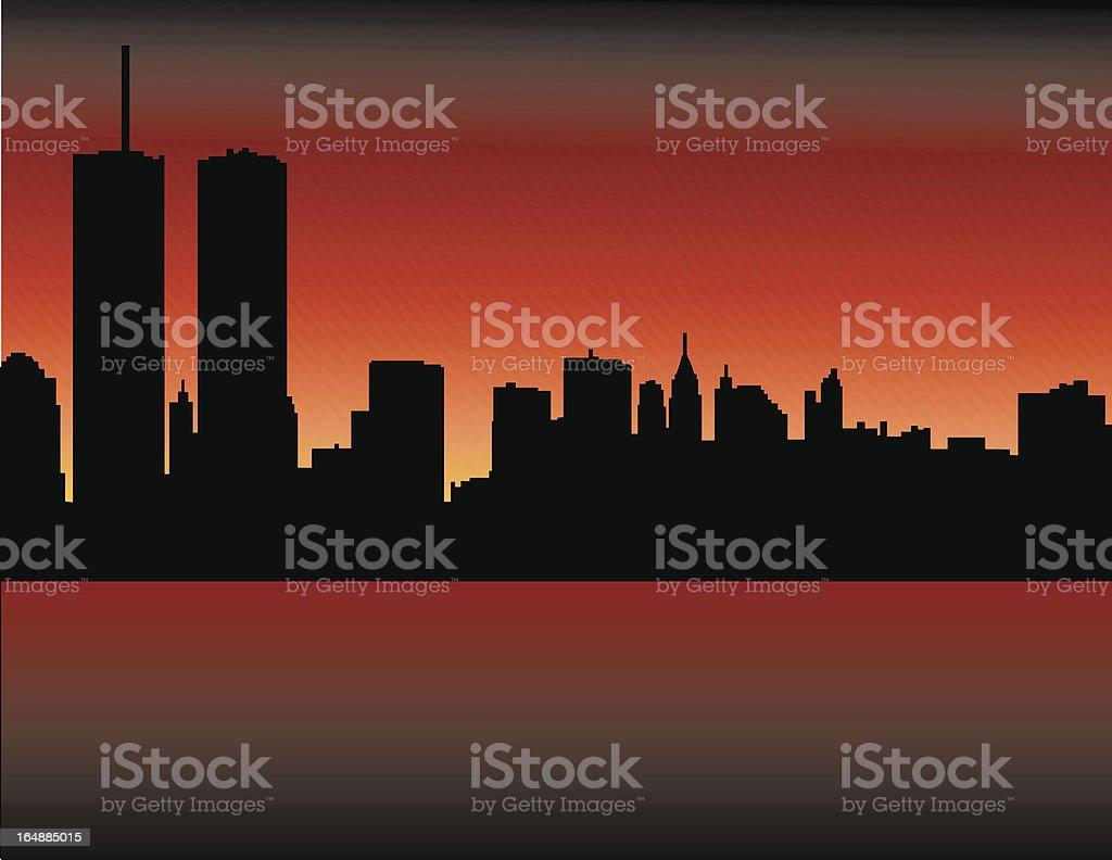 New York Sky Line vector art illustration