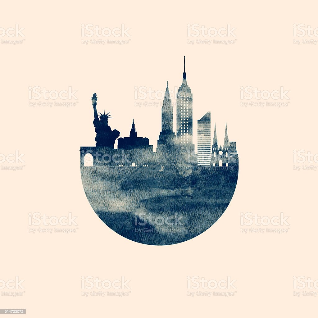 New York Skyline vector art illustration