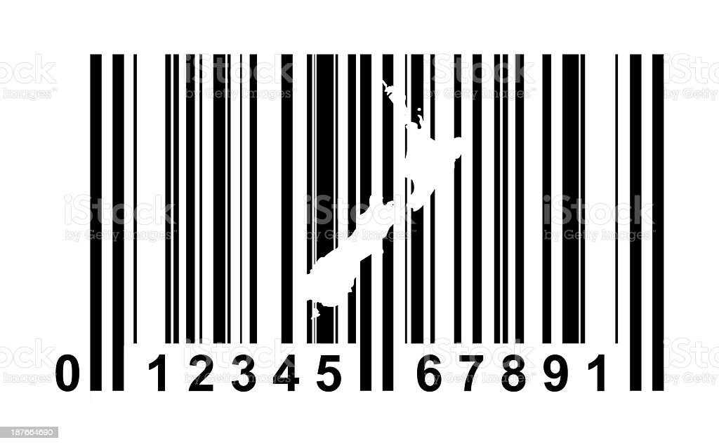 New Zealand bar code royalty-free stock vector art