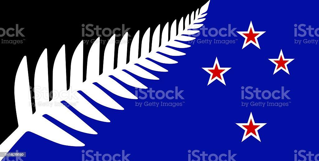 New Zealand Flag vector art illustration
