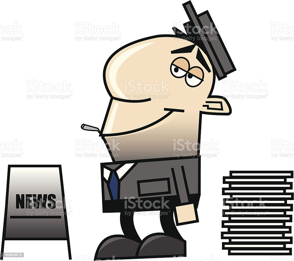 newspaper guy royalty-free stock vector art