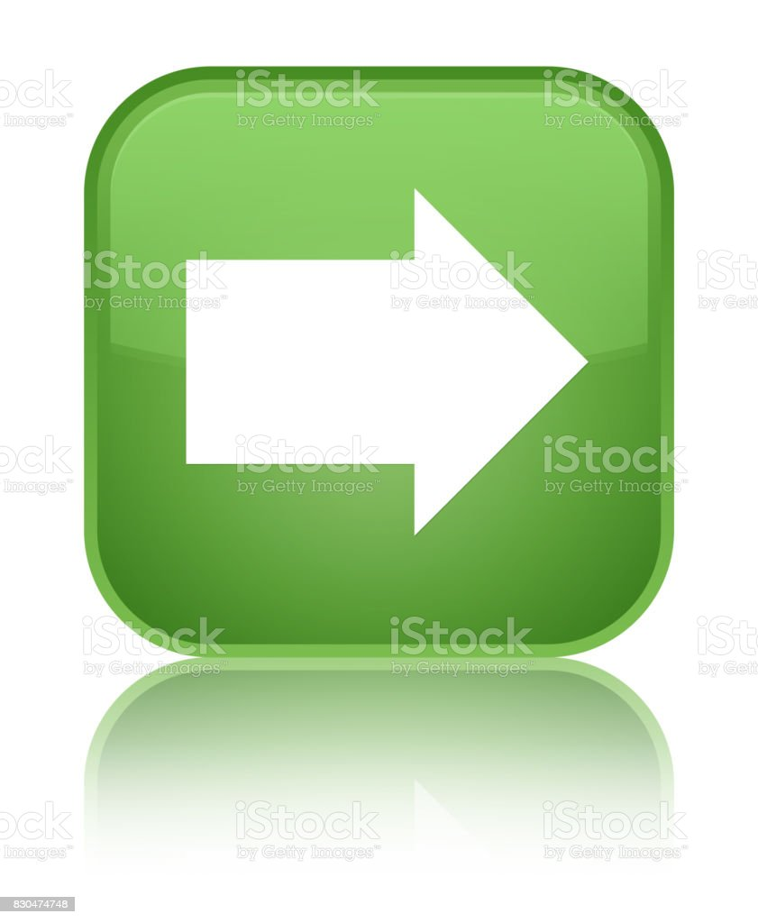 Soft Green Color Next Arrow Icon Special Soft Green Square Button Stock Vector Art