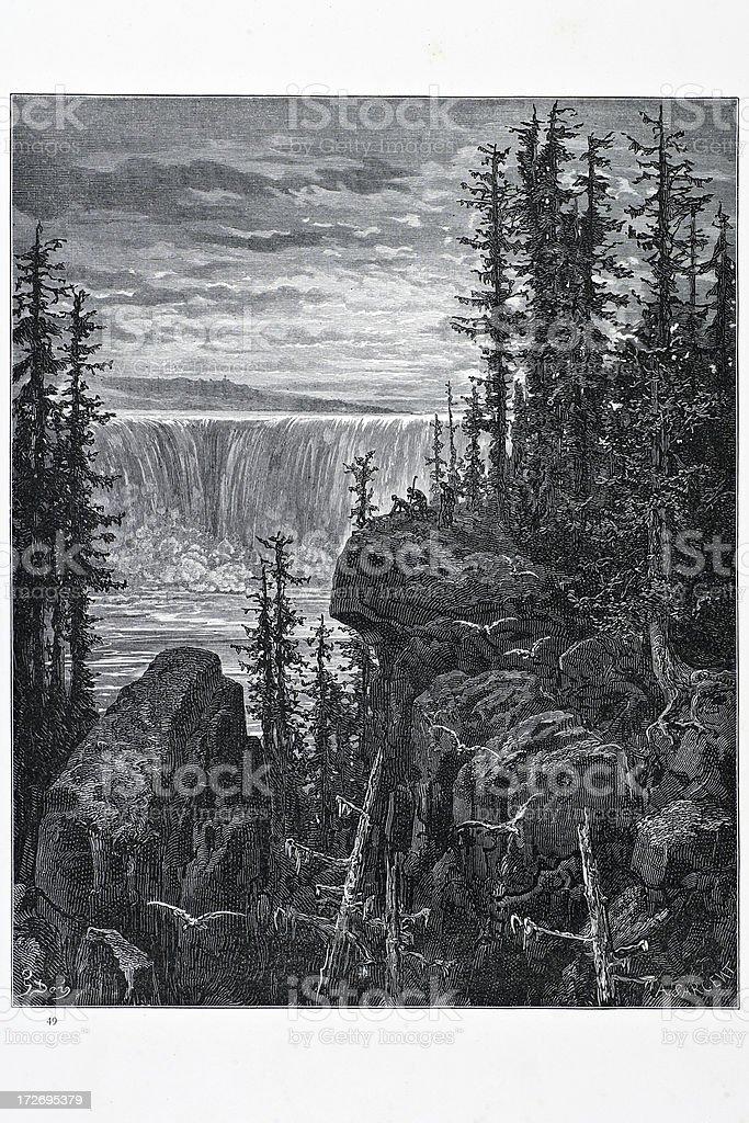 Niagara Falls royalty-free stock vector art