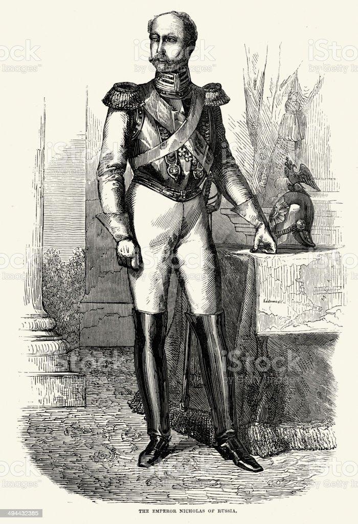 Nicholas I of Russia royalty-free stock vector art