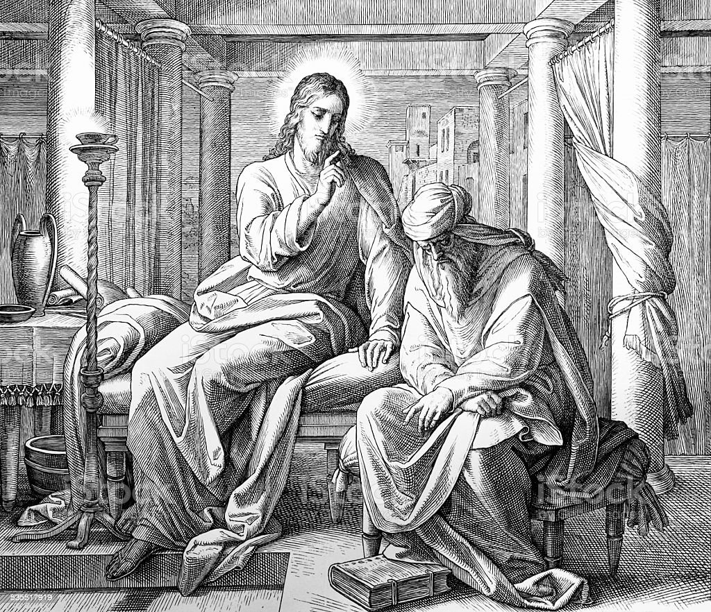 Nicodemus vector art illustration