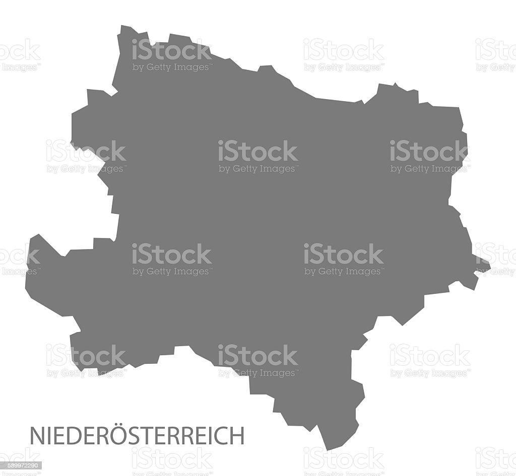 Niederoesterreich Austra Map grey vector art illustration