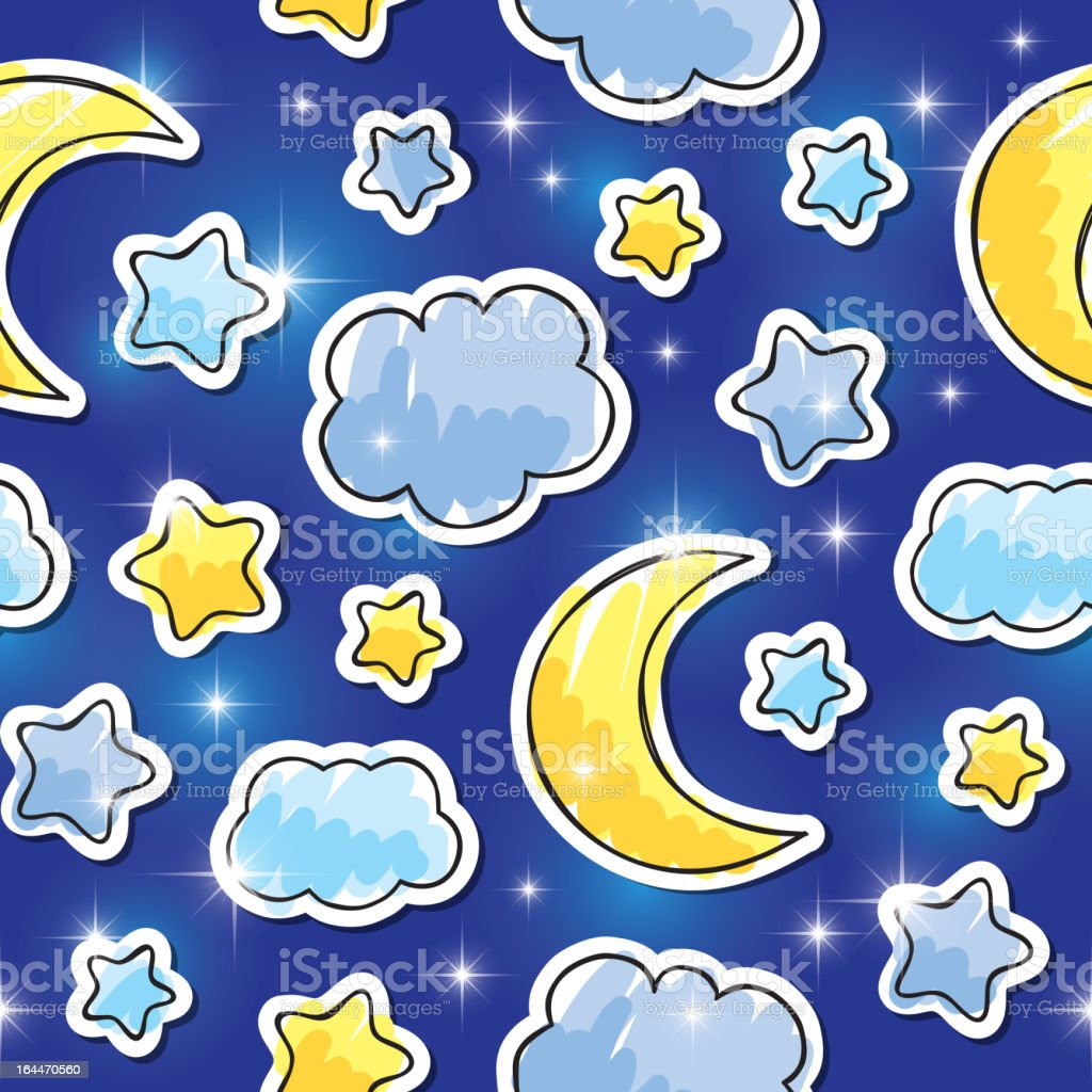night pattern, vector eps 10 royalty-free stock vector art