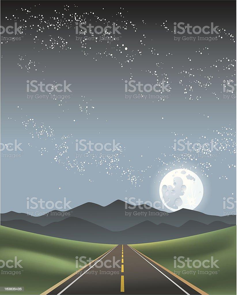 Night Road royalty-free stock vector art