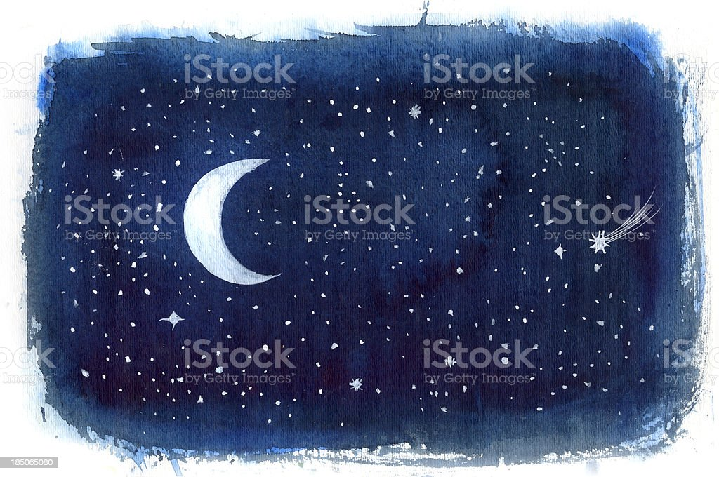 night sky vector art illustration
