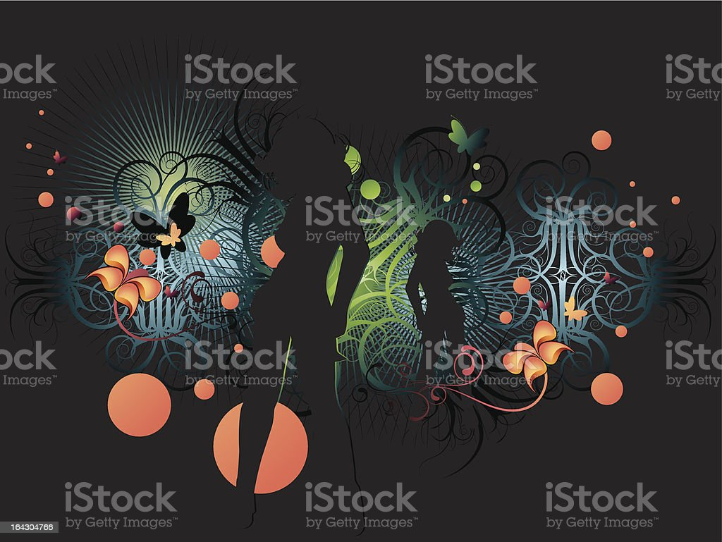 nightdance royalty-free stock vector art