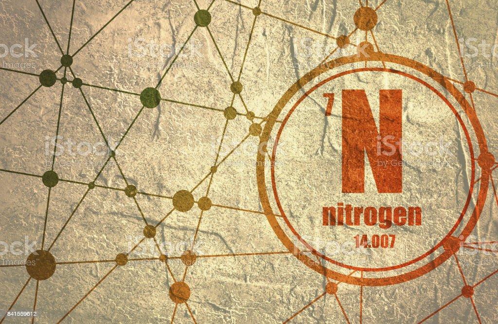 Nitrogen chemical element. vector art illustration