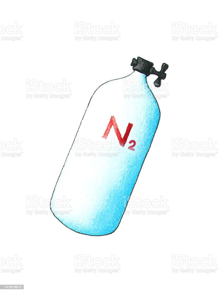 Nitrogen vector art illustration