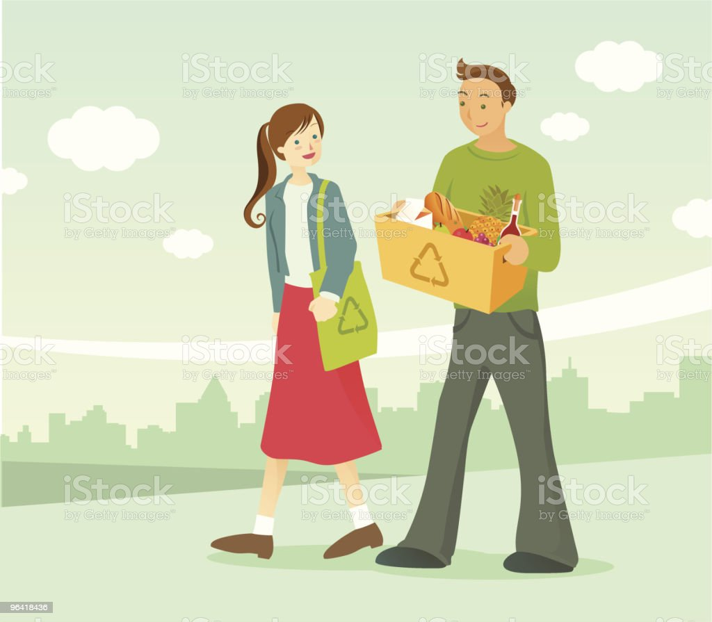 No bags please royalty-free stock vector art