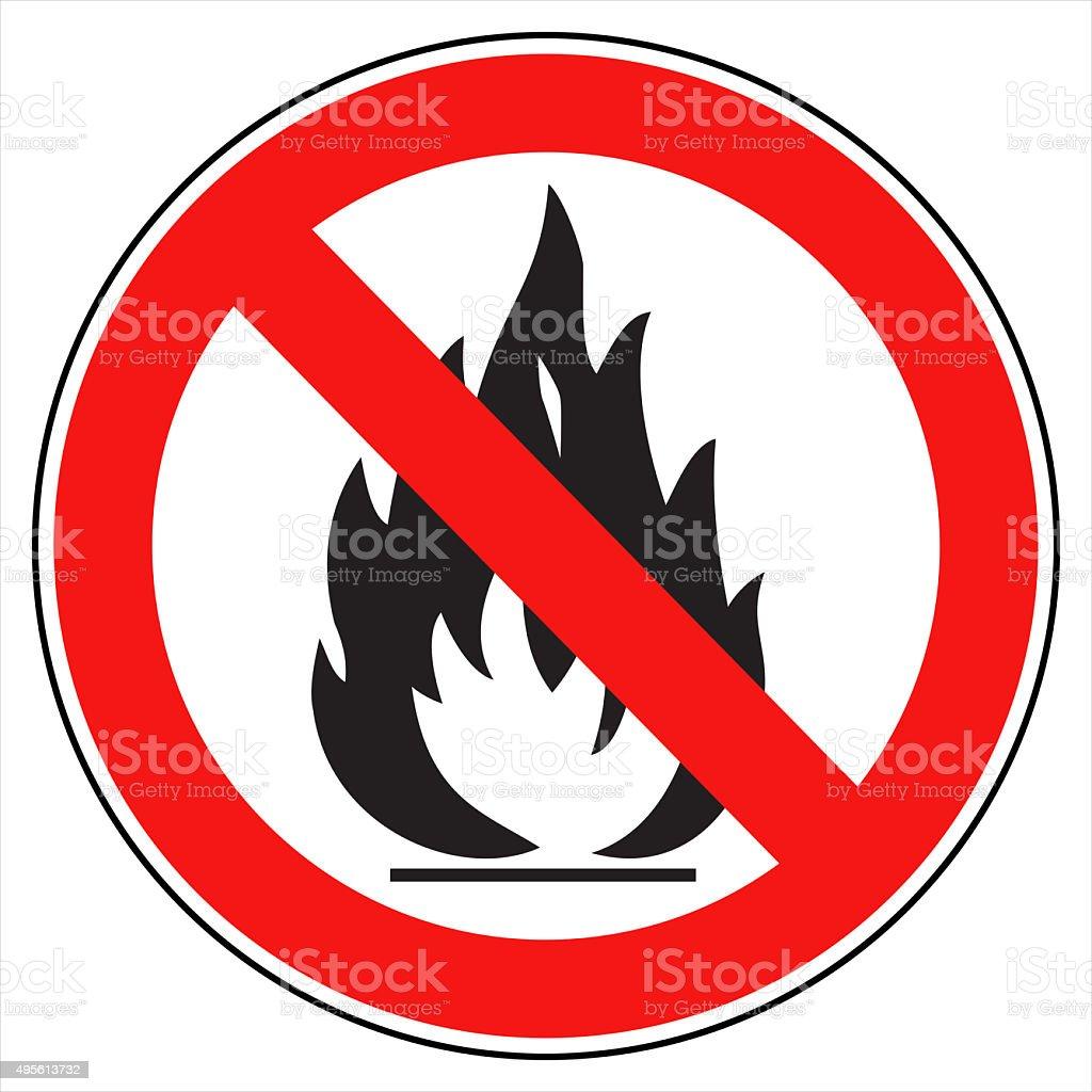 No fire! vector art illustration