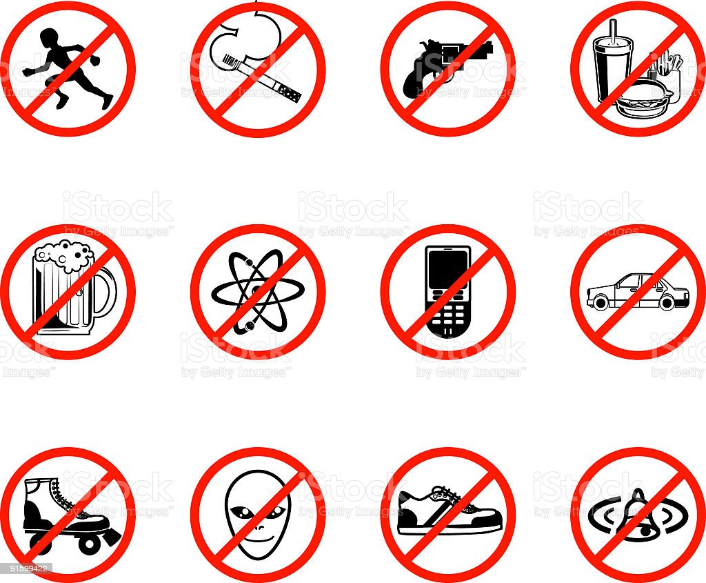 No Icons royalty-free stock vector art