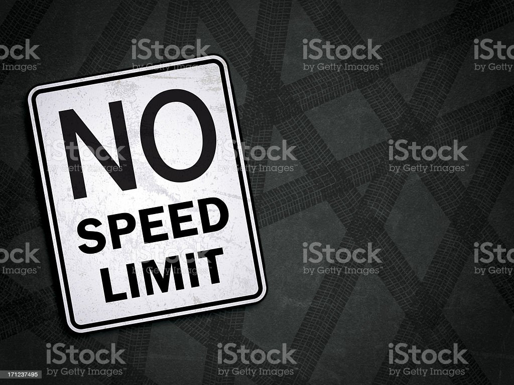 No Speed Limit royalty-free stock photo