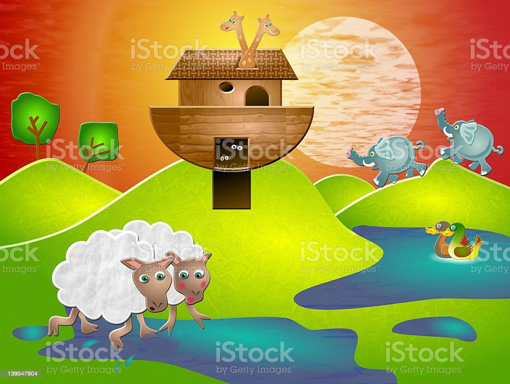 Noahs Ark royalty-free stock vector art