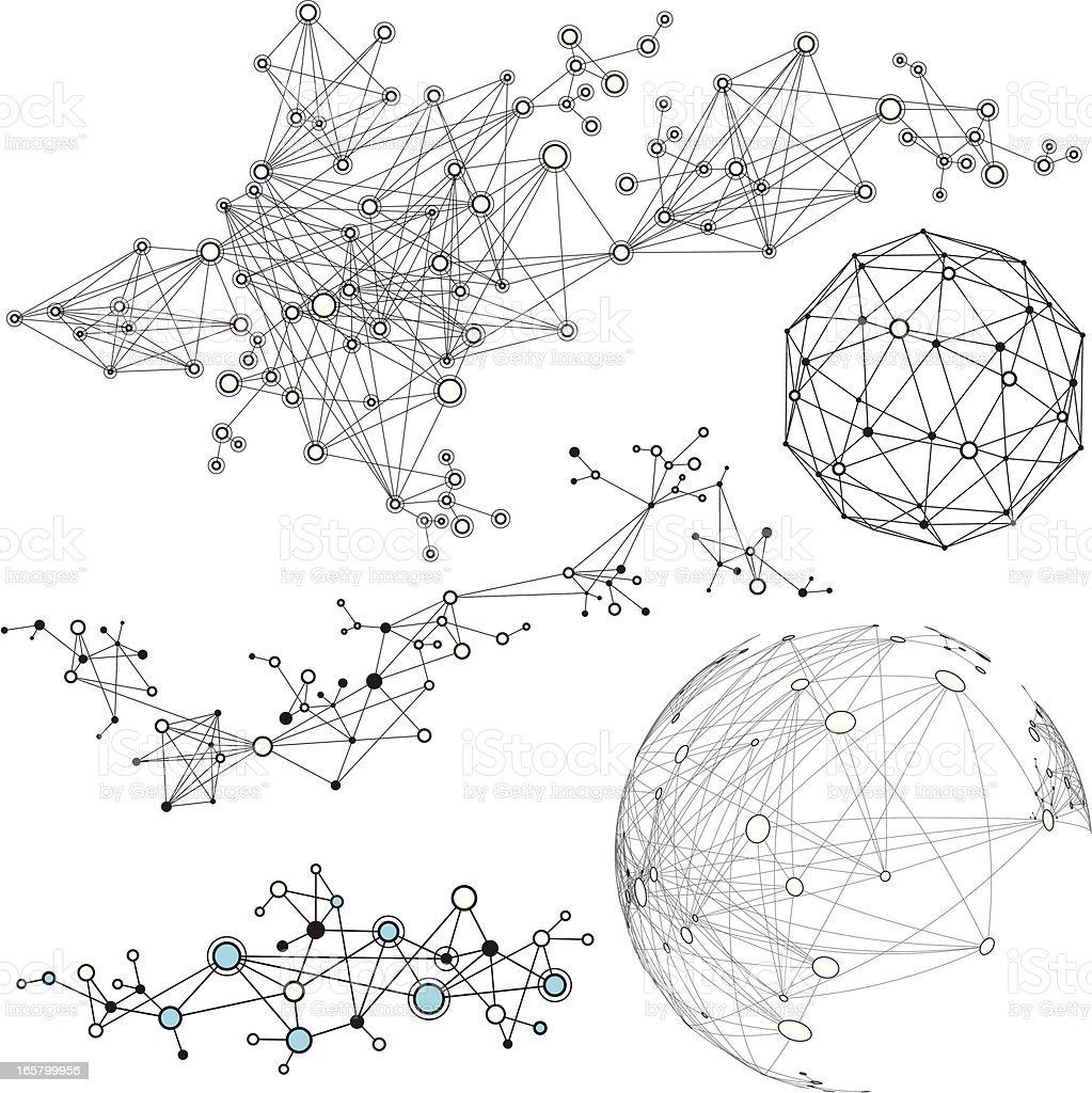 Nodes vector art illustration