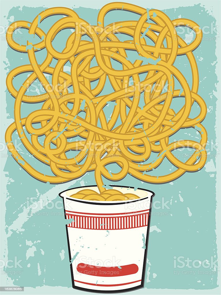 Noodles royalty-free stock vector art