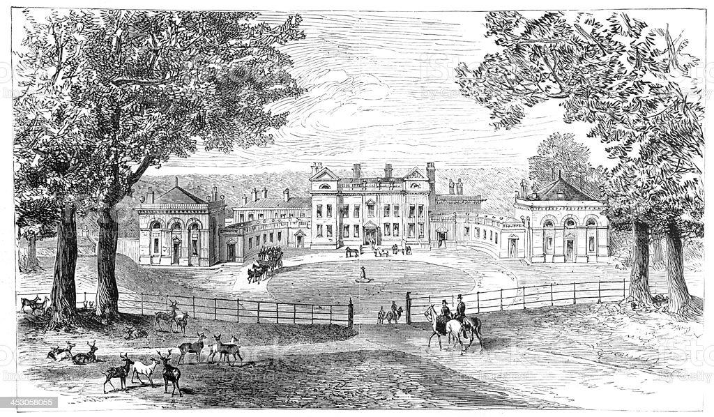 Normanton Park, Rutland vector art illustration