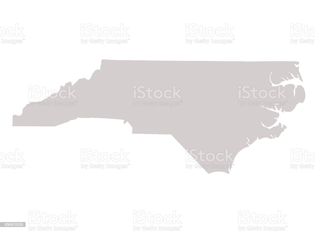 North Carolina State map vector art illustration