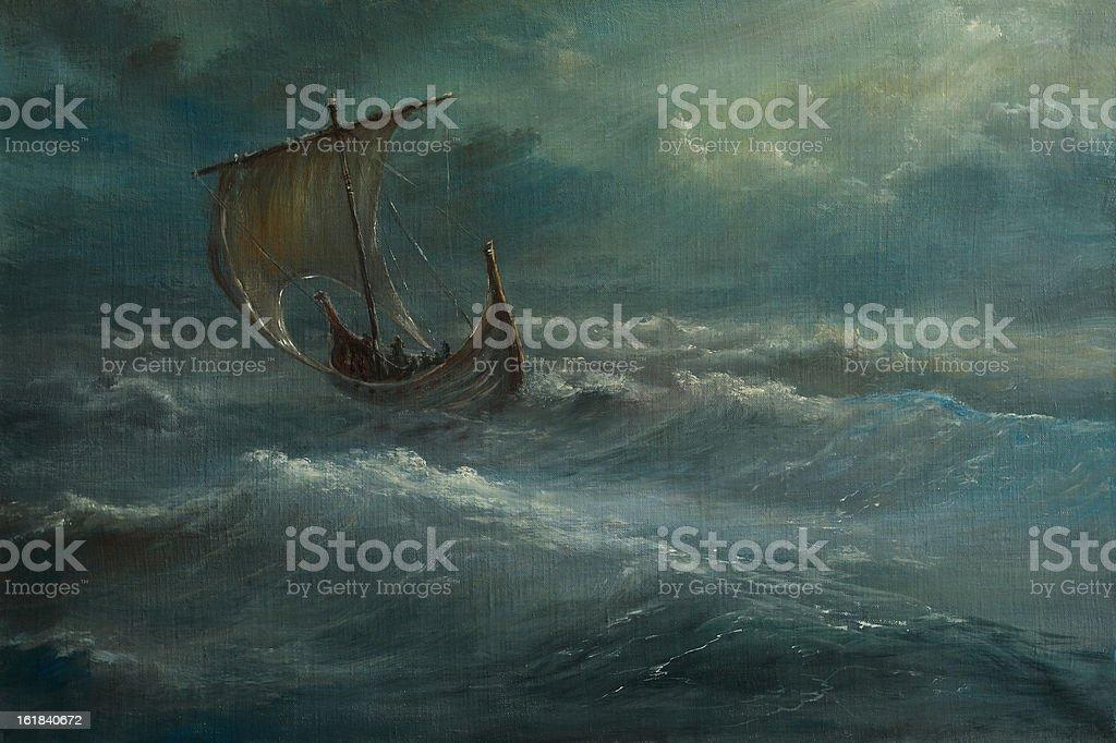 North marine vector art illustration