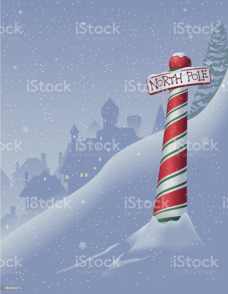 North Pole scene royalty-free stock vector art