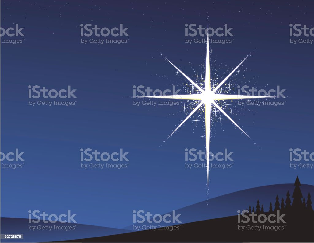 Northern Star vector art illustration