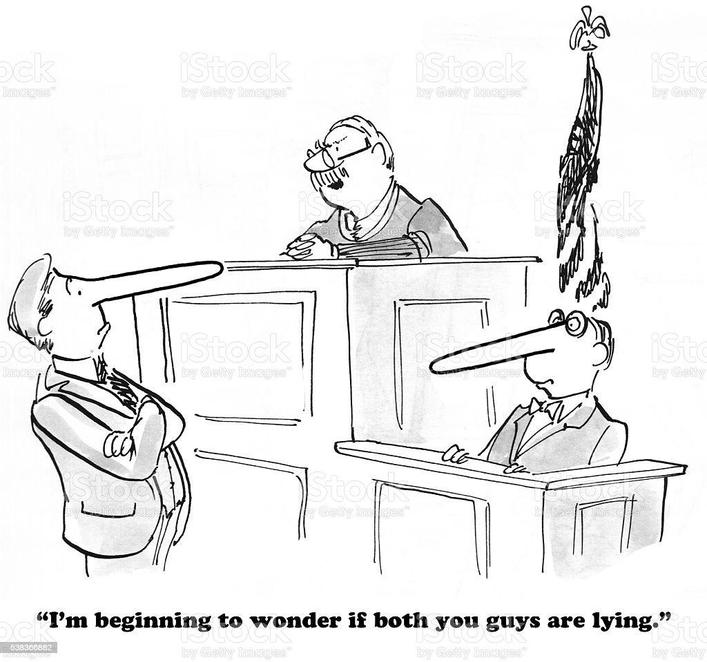 Not Telling the Truth vector art illustration