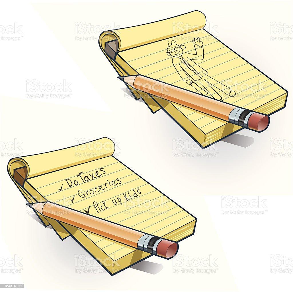 Note Pad vector art illustration