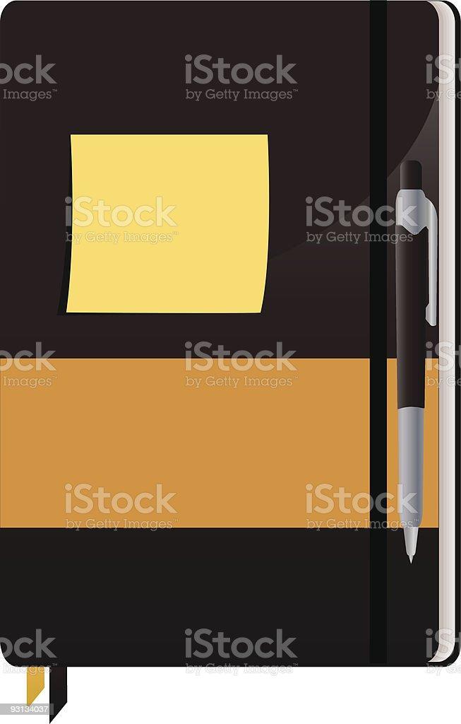 Cuaderno de notas illustracion libre de derechos libre de derechos