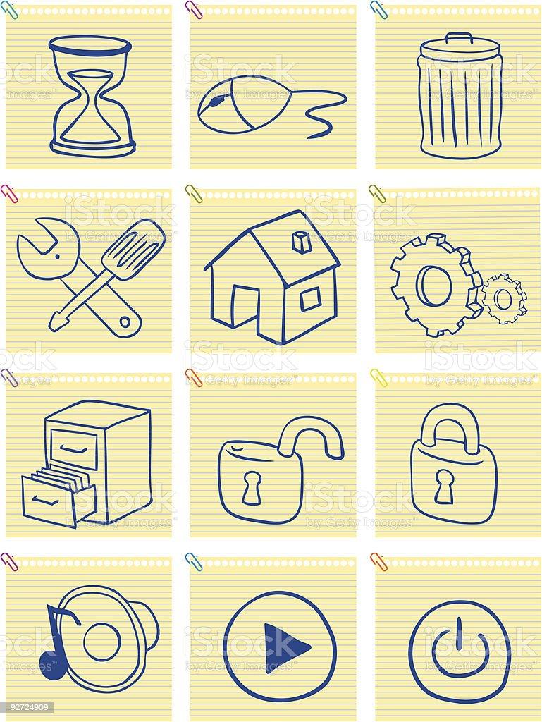 notepad icon royalty-free stock vector art