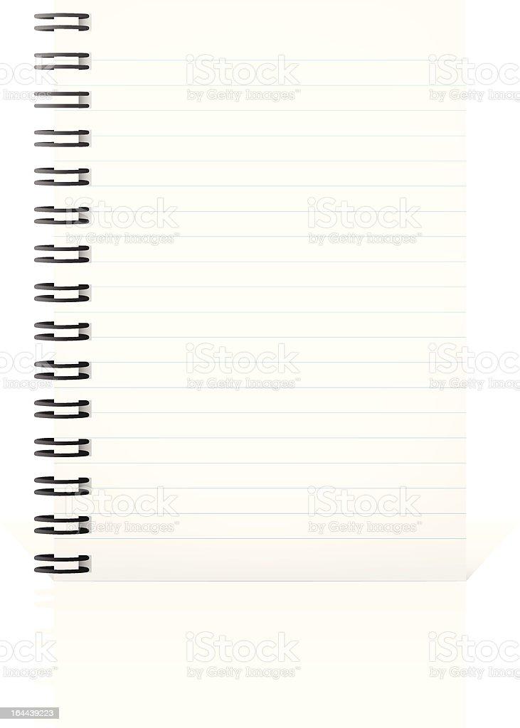 Notepad vector art illustration