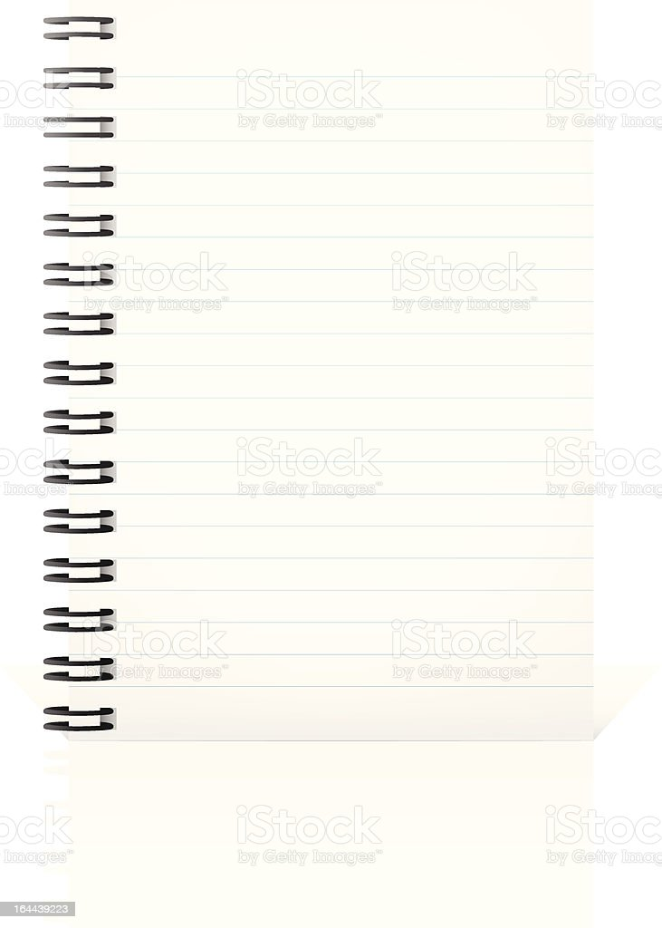 Notepad vector art illustration
