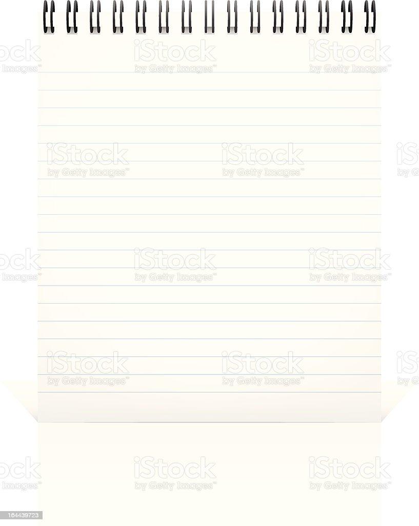 Notepad. royalty-free stock vector art
