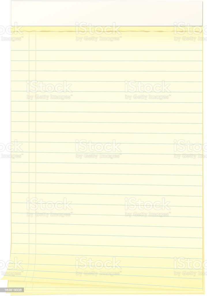 Notepad with Curling Edge and Torn Pages royalty-free stock vector art