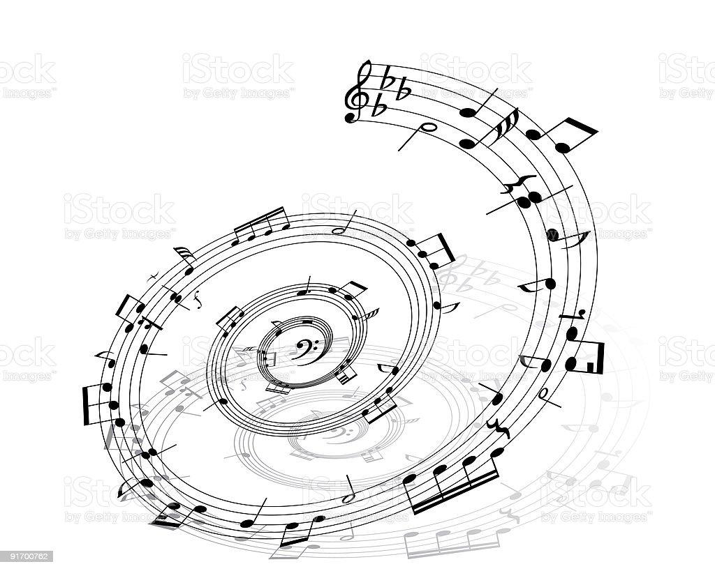 notes circle vector art illustration