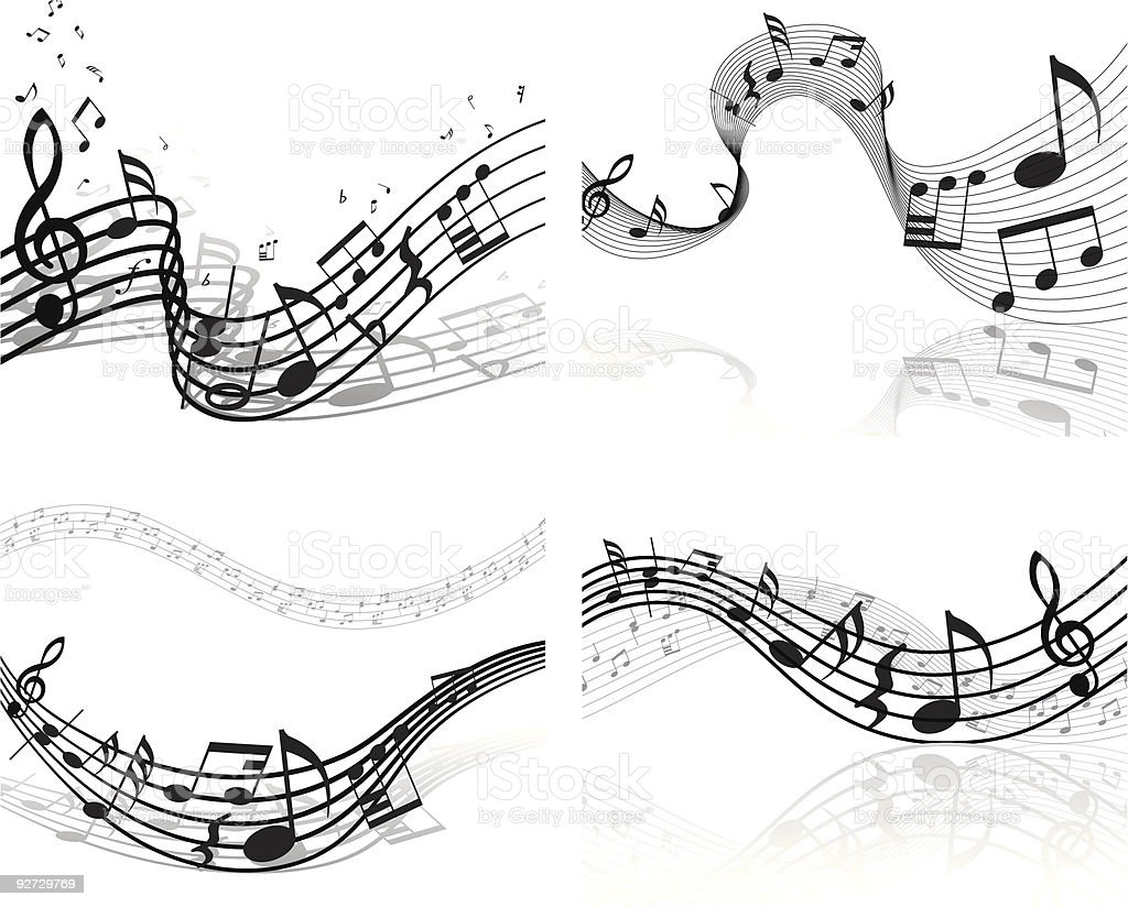 notes theme set vector art illustration