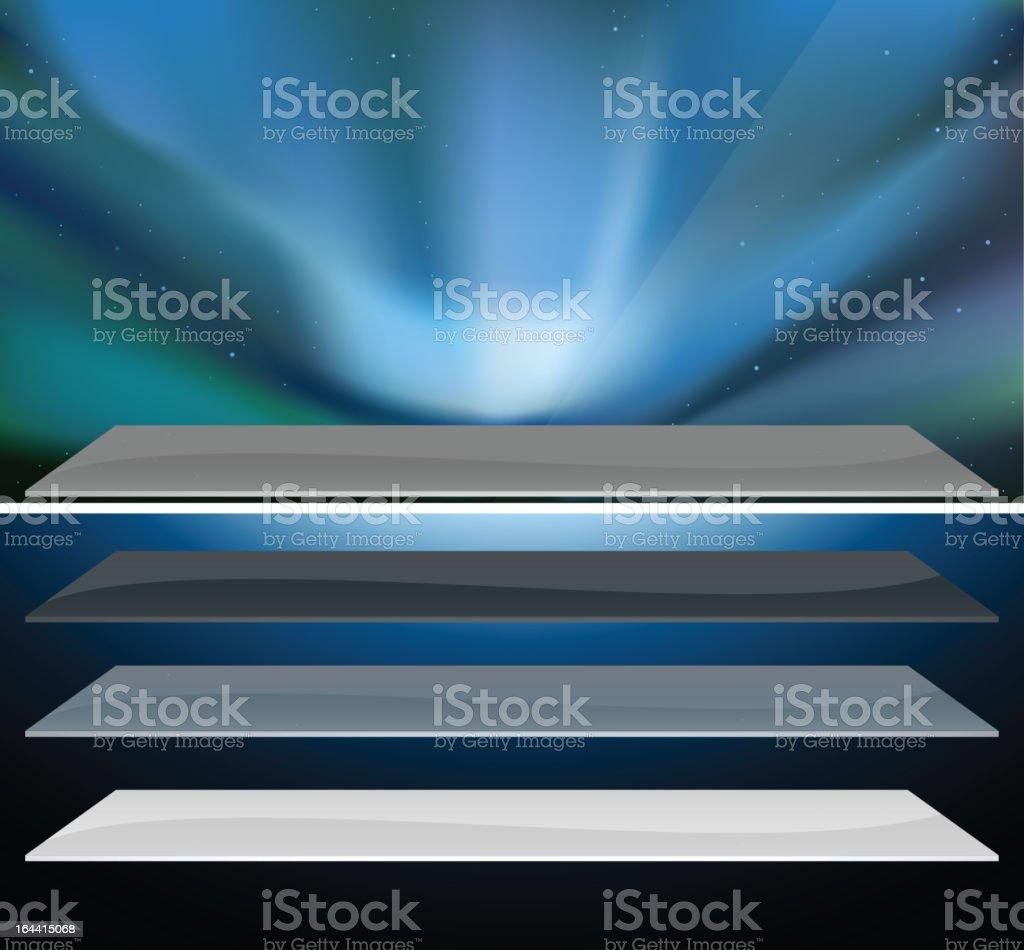 Nothern blue aurora design. royalty-free stock vector art