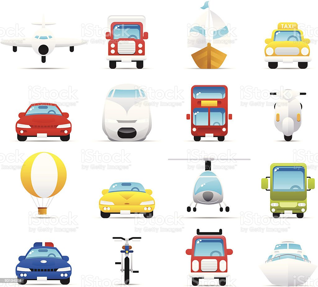 Nouve icon set: Transportations royalty-free stock vector art