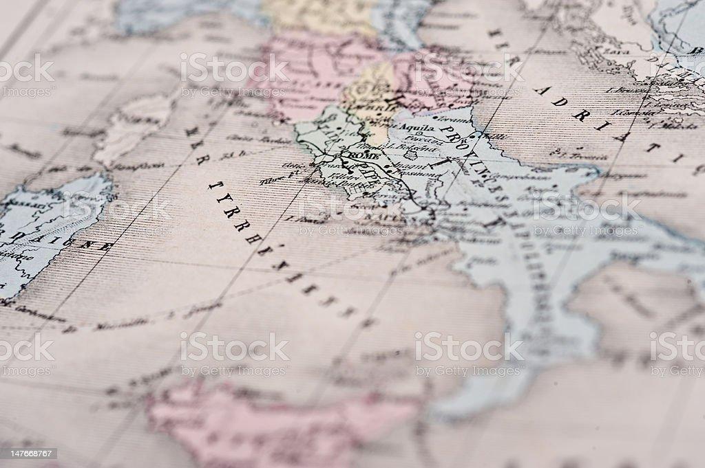 Nouvel Atlas Classique | Rome, Italy vector art illustration