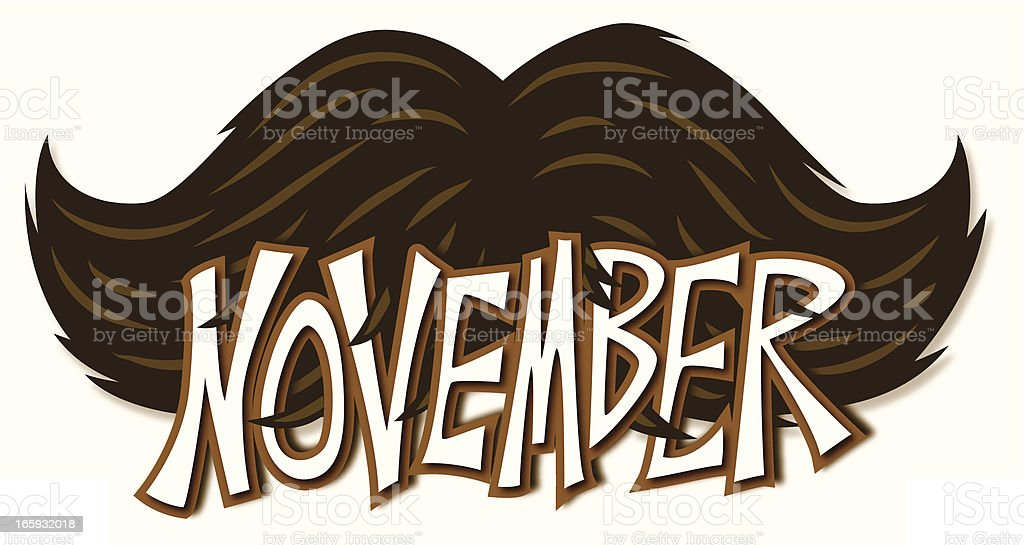 november mustache royalty-free stock vector art