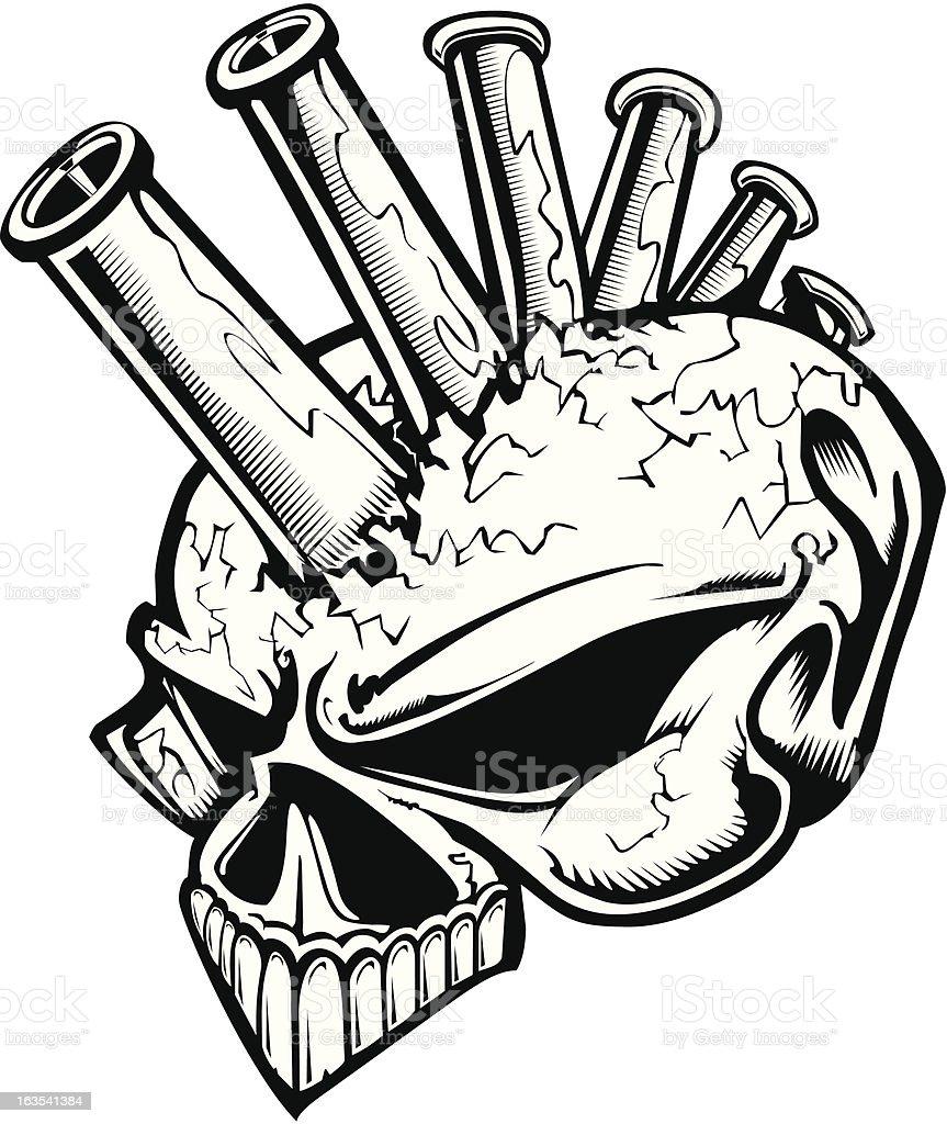 Nozzle Head Skull royalty-free stock vector art